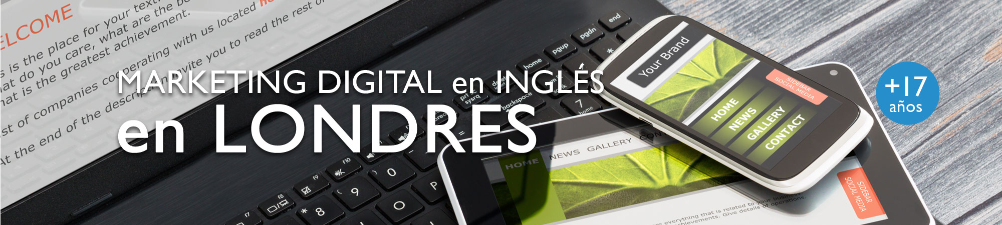 Marketing digital en ingles en Londres cursos en el extranjero Midleton School