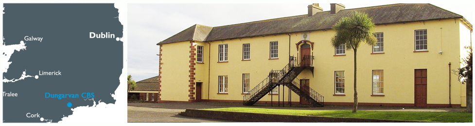Dugarvan CBS mapa colegios chicos en Irlanda Midleton School